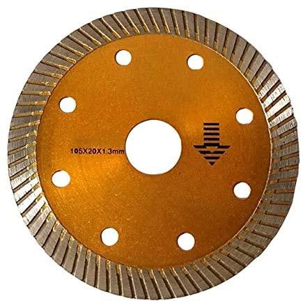 105mm Turbo Diamond Disc Cutting Blade Thin Wheel Porcelain Tile Ceramic Granite - Golden