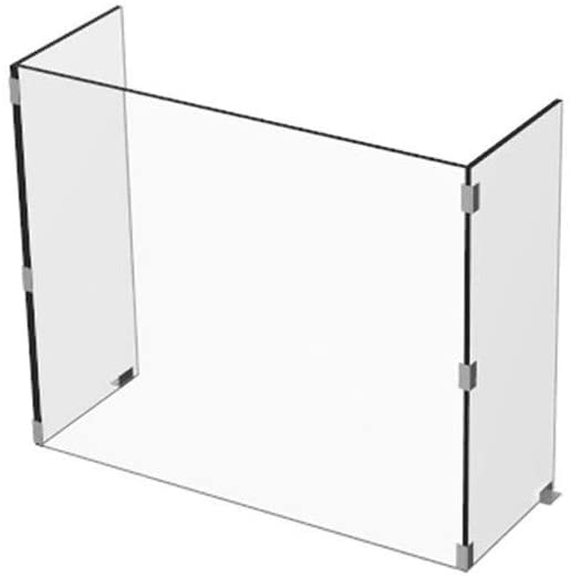 Coverage Sneeze Guard (Side Wall Protection Included)   Perfect For Office, Store, School, Front Desk   Clear Desk Panel Barrier, Acrylic Plexiglass Countertop Display Portable Counter Shield