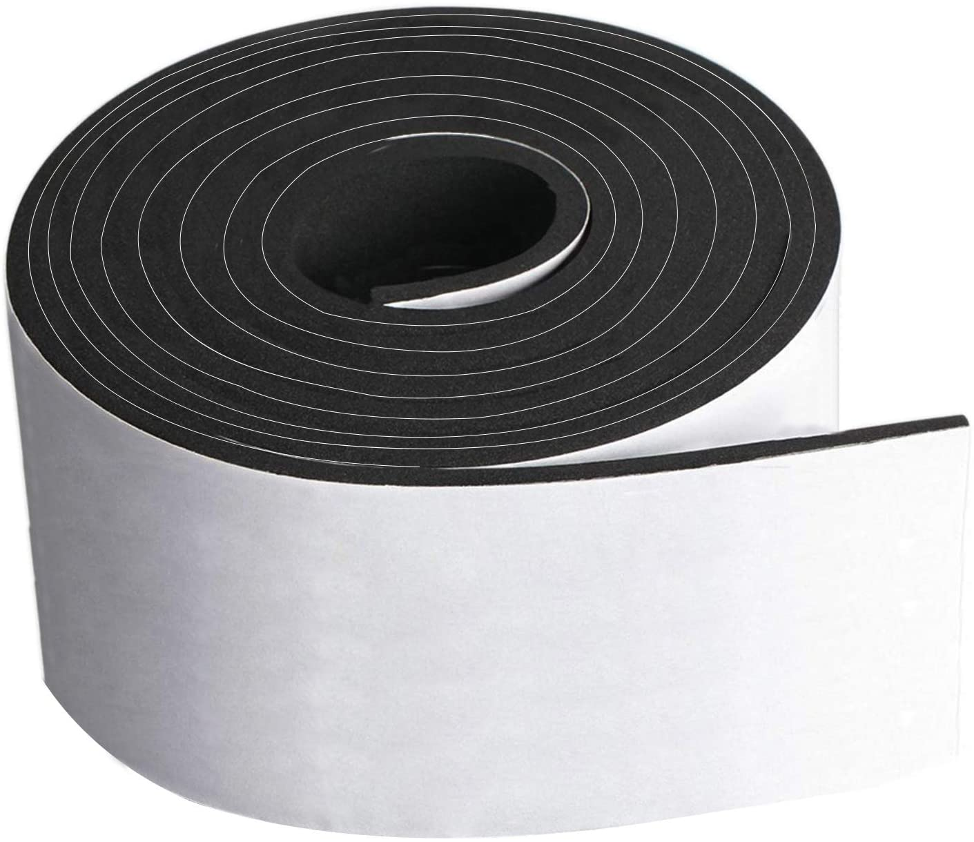 Neoprene Foam Strip Roll by Dualplex, 4 Wide x10 Long 1/8 Thick, Weather Seal High Density Stripping with Adhesive Backing – Weather Strip Roll Insulation Foam Strips