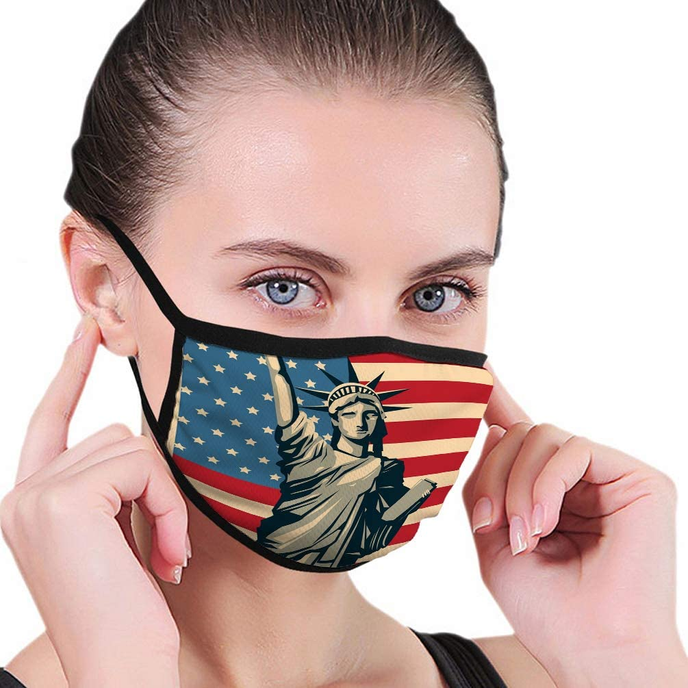 Safety Dustproof Half Face Mouth Shield usa-design-american-icon-flat Face Shield
