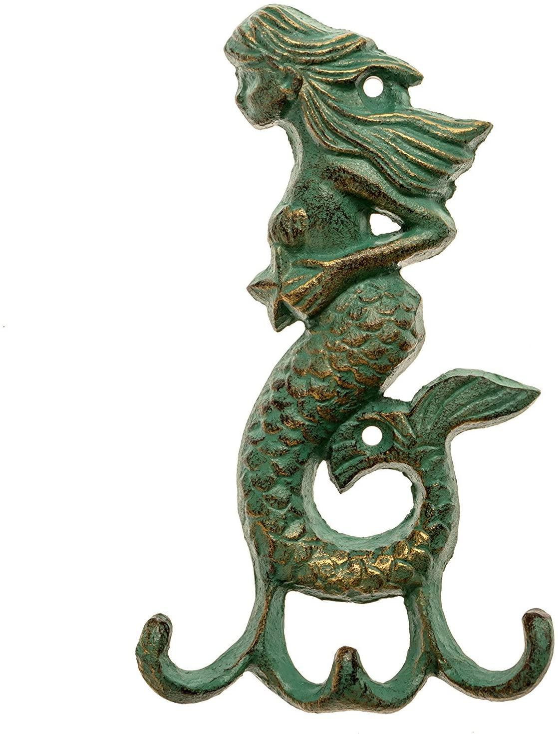 Iron Verdigris Mermaid Hook