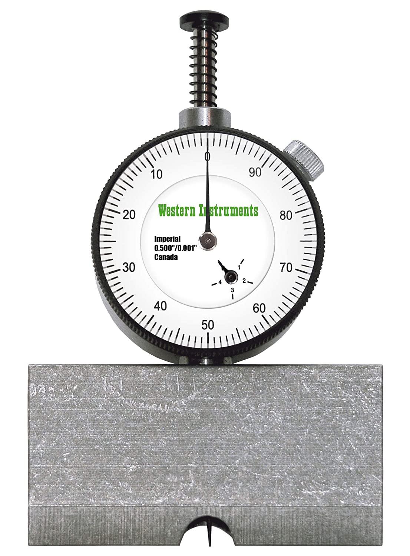 Western Instruments N88-2-I Inch Basic Pit Gauge, Range: 0.0-0.5