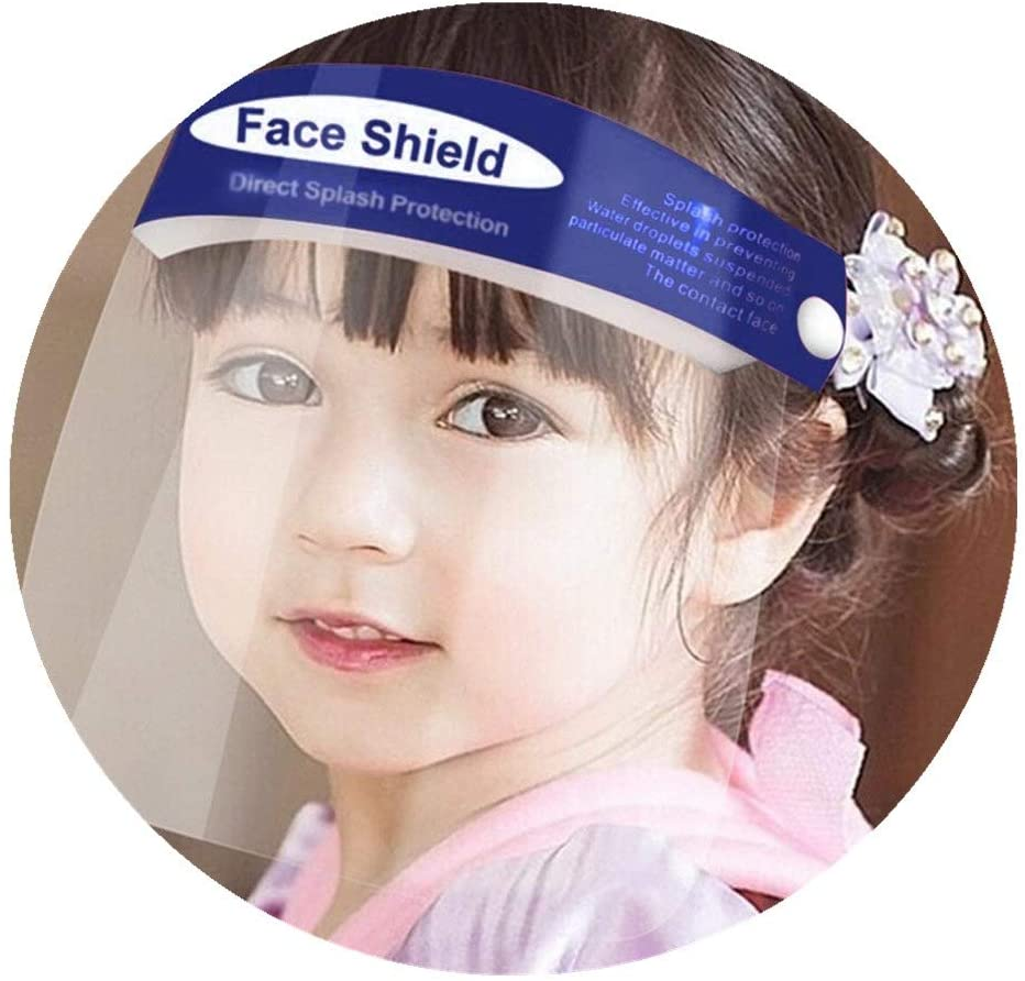 Kids Face Shields with Clear Vision, Adjustable, Lightweight and Breathable Summer Face Macks Newest (5PCS)
