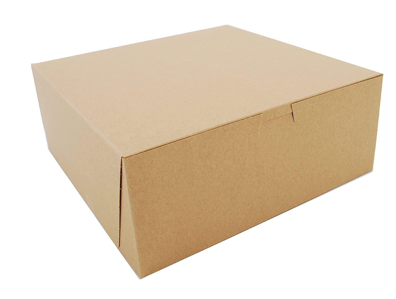 Southern Champion Tray 0973K Kraft Paperboard Non Window Lock Corner Bakery Box, 10