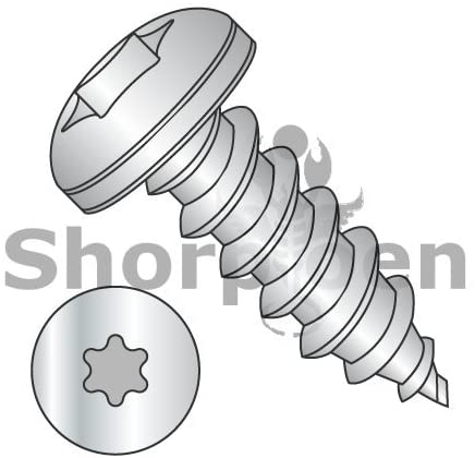 10-16X1/2 6 Lobe Pan Self Tapping Screw Type AB Fully Threaded 18-8 Stainless Steel - Box Quantity 3000 by Shorpioen BC-1008ABTP188
