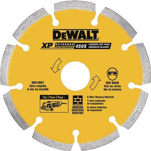 DEWALT DW4739 0.250 XP Diamond Tuck Point Blade, 6-Inch