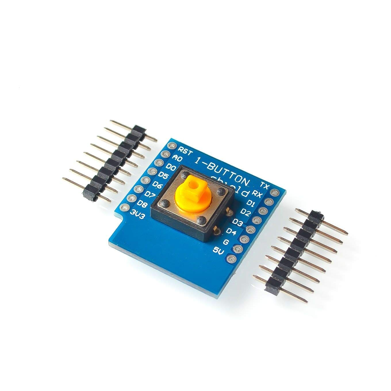 10SETS/LOT One Button Shield for WeMos D1 Mini Button for Wemos DIY Electronic PCB Board D1 Mini Button Module with Pin