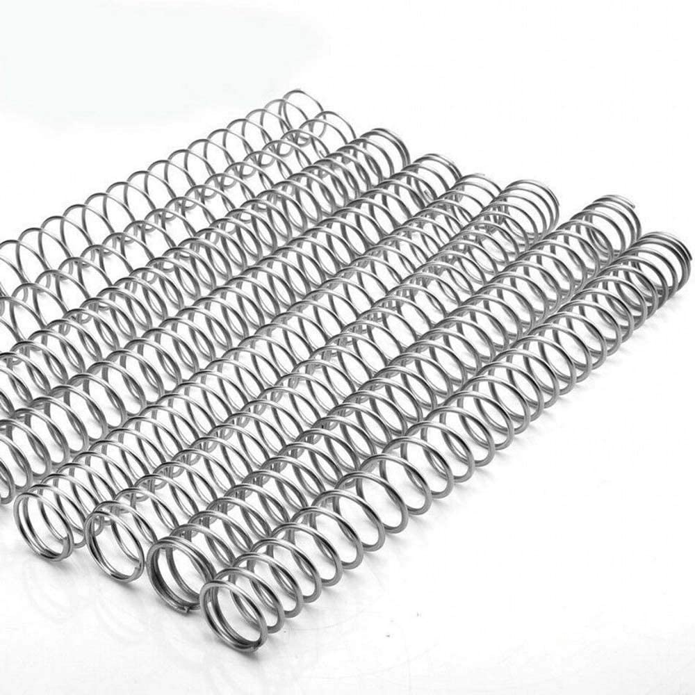 0.3mm-2.5mm Wire Dia Spring Compression Pressure Spring 304 Stainless Steel Length 305mm (2Pcs, 2.020305 mm)