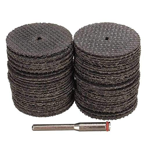 SMITH CHU 50pcs Accessories 32mm Cutting Discs Resin Fiber Cut of Wheel Discs for Rotary Tools Grinding Abrasive Tools