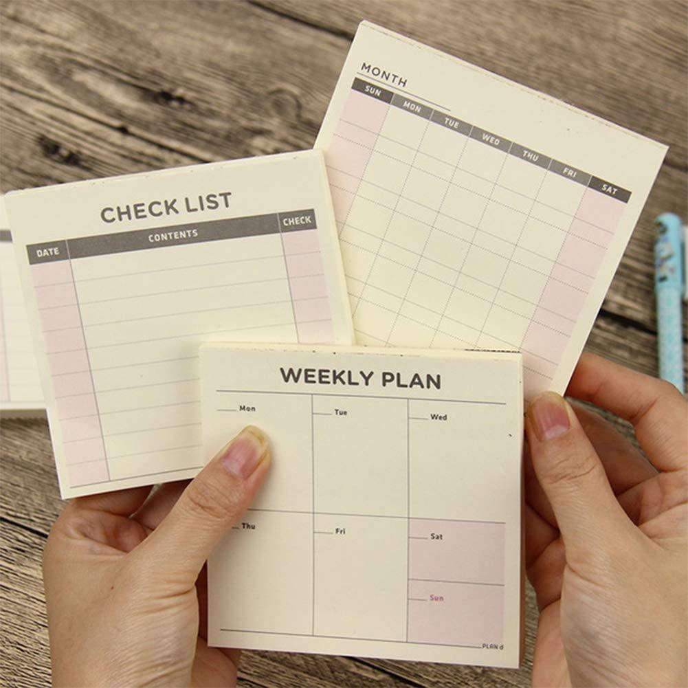 2018-2019 Academic Planner Weekly Monthly (3Pcs/Set) Work Book Diary Agenda Dokibook for Kids Moms, Teachers & Students Notebook School Supplies Cute Kawaii