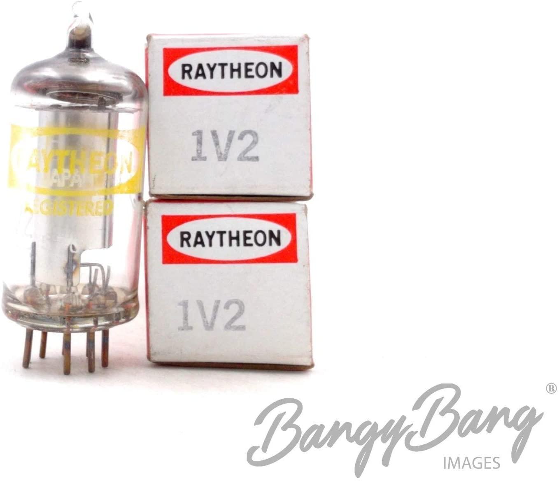 2 Vintage Raytheon 1V2 EHT Rectifier Flyback Systems Television Valve- BangyBang Tubes
