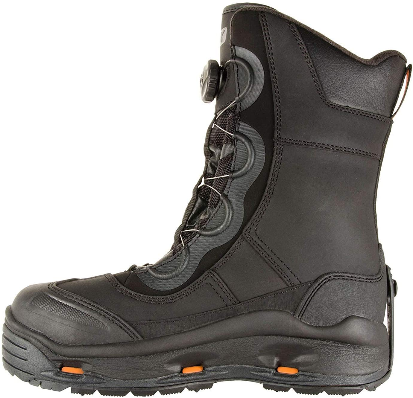 KORKERS Men's IceJack Pro Black Safety Boot with SnowTrac/IceTrac Outsoles