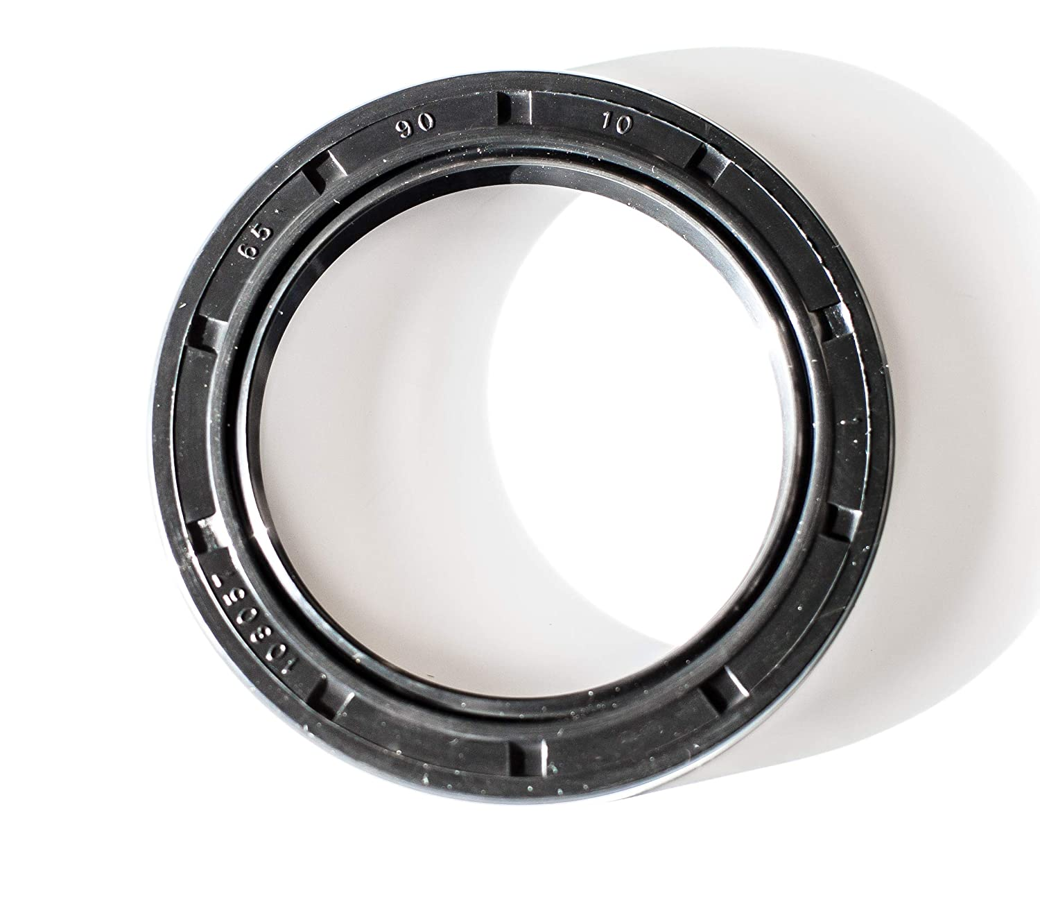 EAI Oil Seal 65mm X 90mm X 10mm (2 PCS) TC Double Lip w/Spring. Metal Case w/Nitrile Rubber Coating