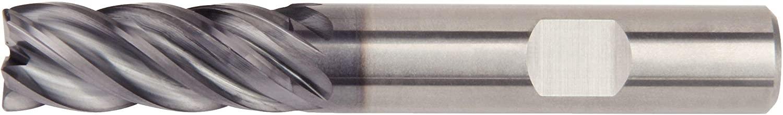 WIDIA Hanita 577C08003W VariMill II 577C HP End Mill, 0.5 mm Radius, 8 mm Cutting Diameter, Carbide, AlTiN Coating, RH Cut, Weldon Shank, 5-Flute