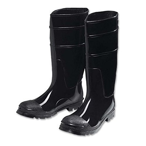 West Chester 8350 15 PVC Steel Toe Boot, Size 15, Black