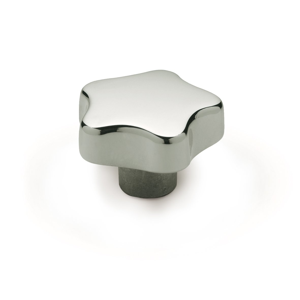 JW Winco Aluminum 6082 Tapped Hand Knob, Threaded Hole, M12 x 1.75 Thread Size x 28mm Thread Depth, 70mm Head Diameter, Polished Finish (Pack of 1)