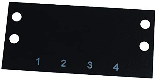 MS-4-142 - Terminal Block Marker, Terminal Block Marker, 142 Series Barrier Blocks, 1 to 4, 14.3 mm, (Pack of 20)