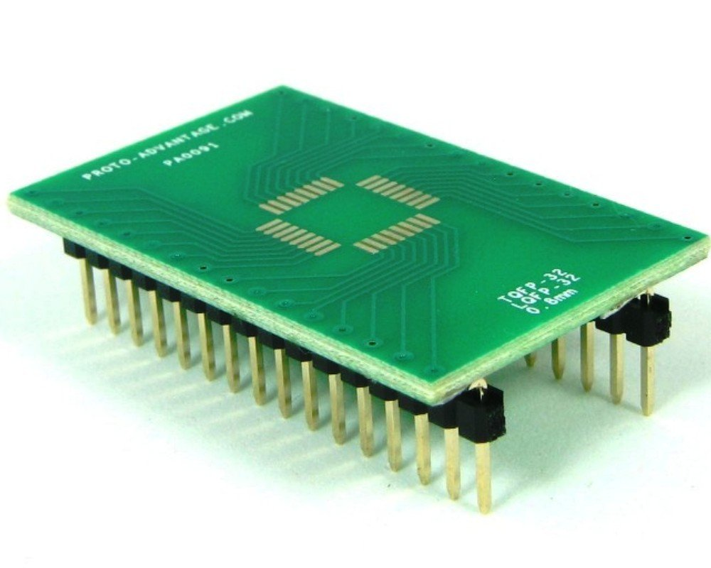 Proto-Advantage TQFP-32 to DIP-32 SMT Adapter (0.8 mm Pitch, 7 x 7 mm Body)