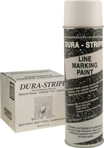 DuraStripe Aerosal Field Paint White for Grass - Set of 12 Cans