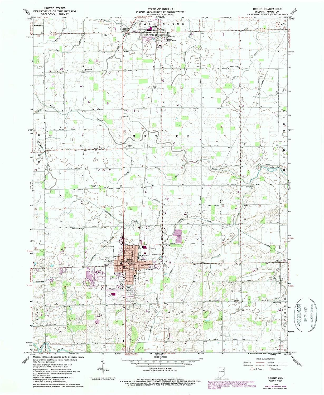 Map Print - Berne, Indiana (1962), 1:24000 Scale - 24