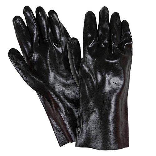 Southern Gloves I885-12 Import Black PVC, Smooth Finish, Interlock Lined, 12