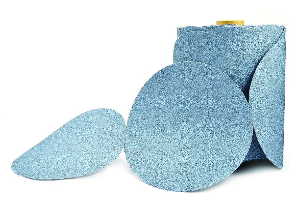 Superior Abrasives 11689 SHUR-KUT 5in Aluminum Oxide Blue Stearate PSA Paper Disc Roll, 180 Grit