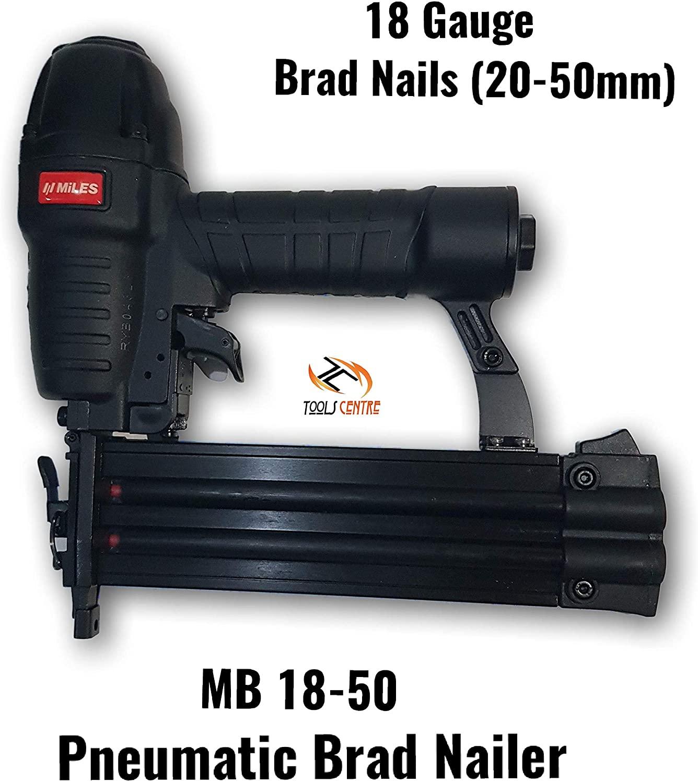 Tools Centre Kangaro Miles MB 18-50 Pneumatic Brad Nailer With 6 months Manufacturer Warranty.