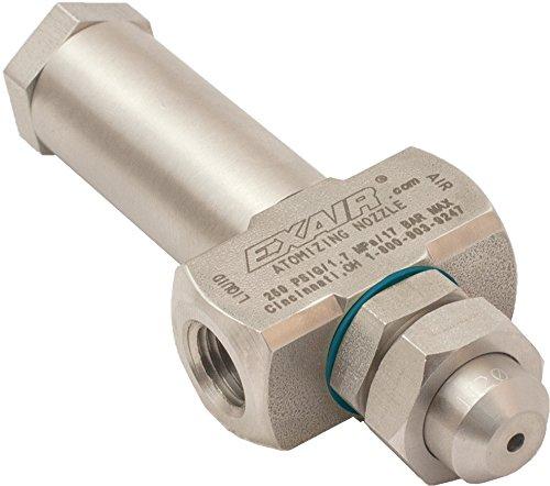 EXAIR AN2010SS No Drip Atomizing Nozzle, 3.3 GPH Maximum Flow Rate, 12.5 LPH Max