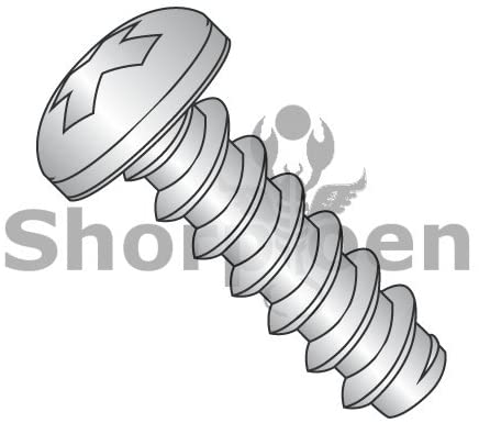 2-32X3/8 Phillips Pan Self Tapping Screw Type B Fully Threaded 18-8 Stainless Steel - Box Quantity 5000 by Shorpioen BC-0206BPP188