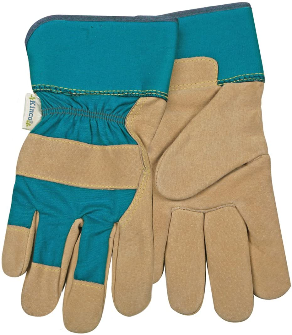Kinco 035117514133 Women's Suede Pigskin Work Gloves, Large