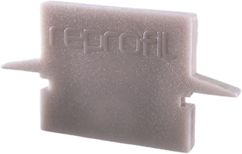 Reprofile end Cap H-ET-01-08, Grey, 23 mm, 2 Pieces
