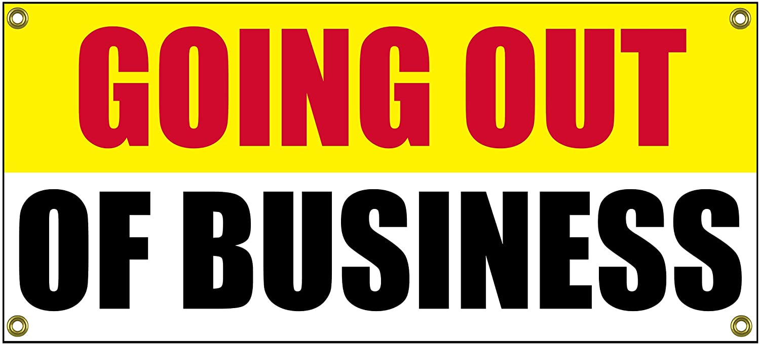 Going Out of Business Banner Retail Store Shop Business Sign 36 by 15 Store Closing