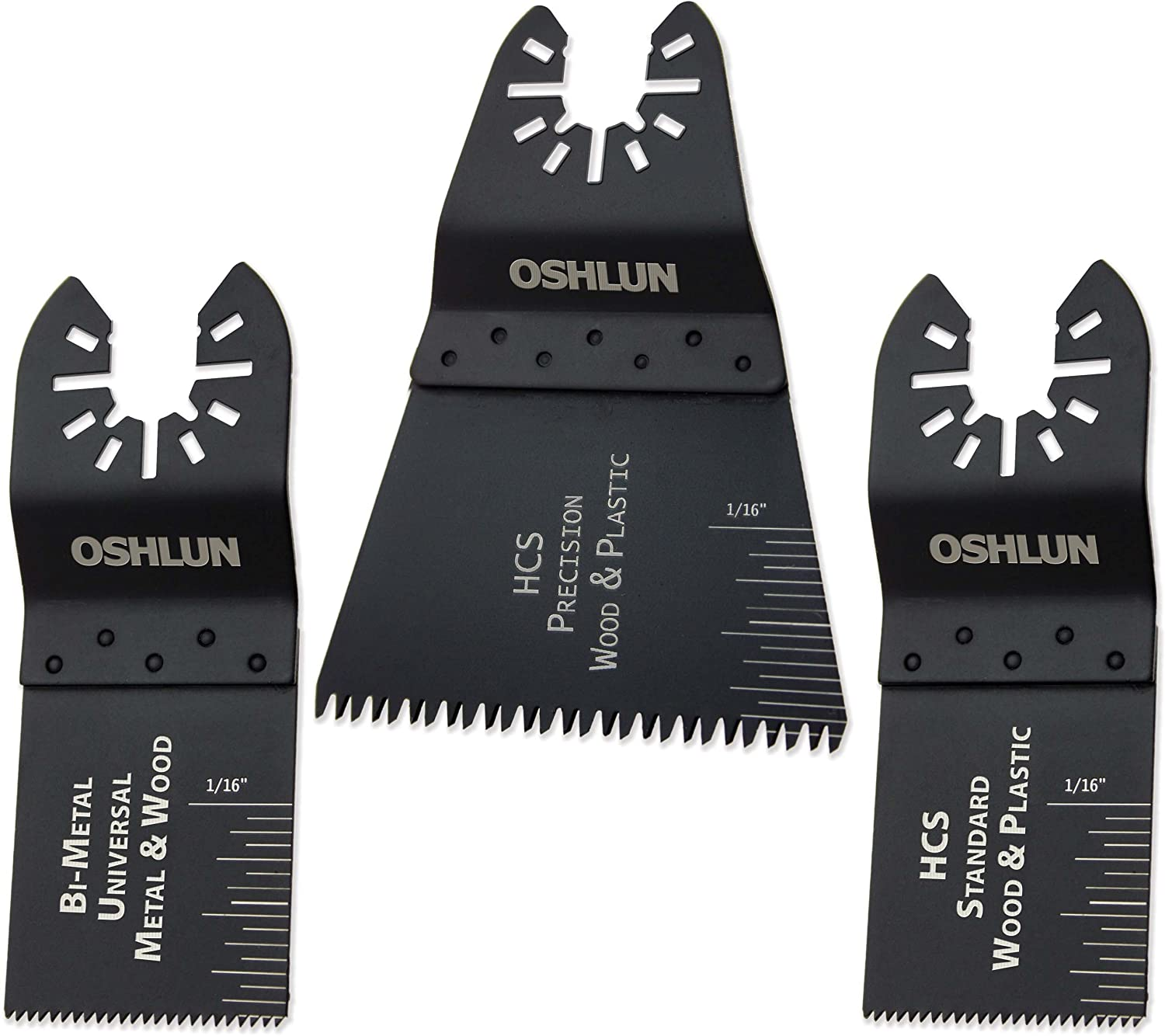 Oshlun MMC-9903 Oscillating Tool Blade Combo with Quick-Fit Arbor (Pack of 3)