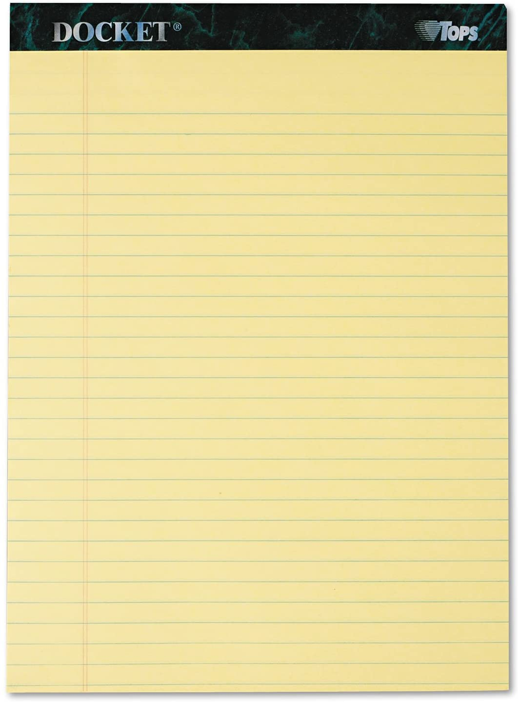 TOPS 63400 Notepads,Wide Ruled,50 Sheets,8-1/2-Inch x11-3/4-Inch,12/PK,Canary
