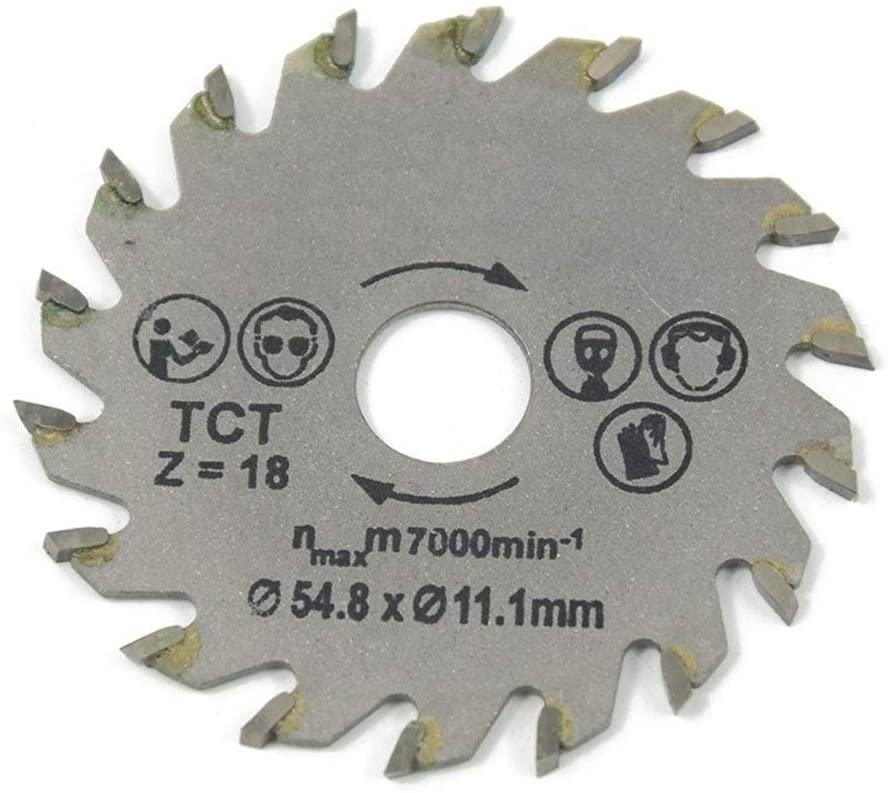 Saw Blade 3pcs Out Diameter 54.8 MM Mini Circular Saw Blade Wood Cutting Blade Framing Blade (Color : 1PCS 54.8 TCT 48T)