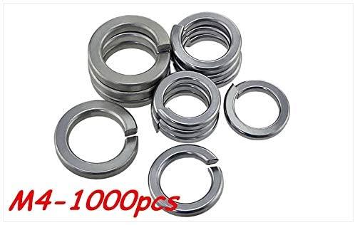 Ochoos 1000pcs M4 304 Stainless Steel Spring Washer Shells Pad Elastic Gasket