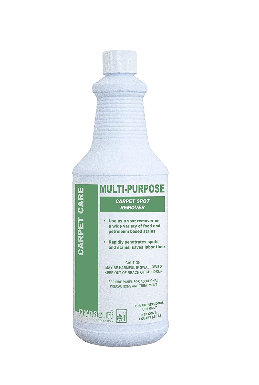 Dynasurf 5802-32 Multi-Purpose RTU Carpet Spot Remover, Liquid, RTU, Water like, 12/32 oz. per Case (Pack of 12)