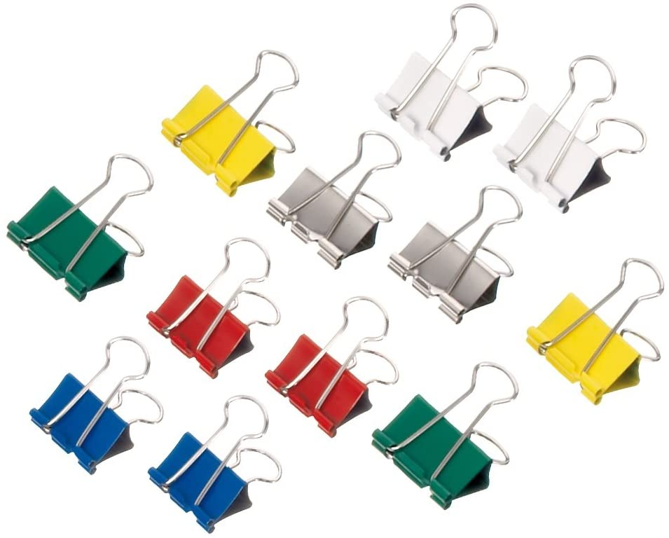 214 Jaw Clip, Width 16 mm Box of 12 25 mm Assorted Colours