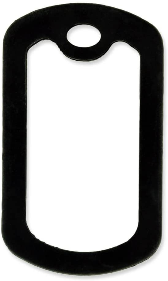 PinMart 5 Pack Military Style Dog Tag Silicone Silencer - Black