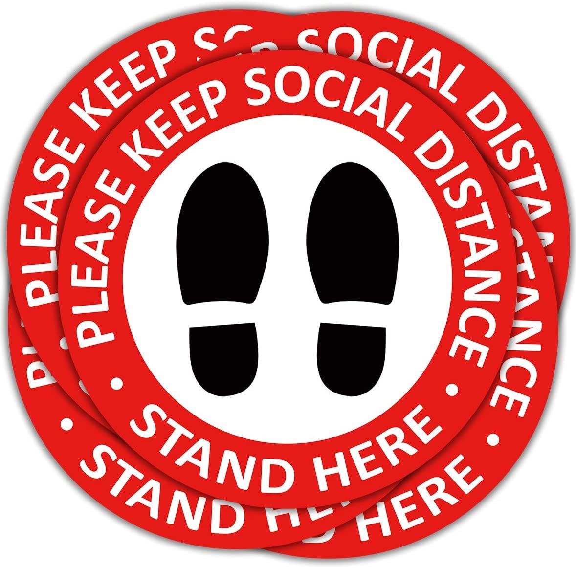 Social Distancing Floor Decals - 12