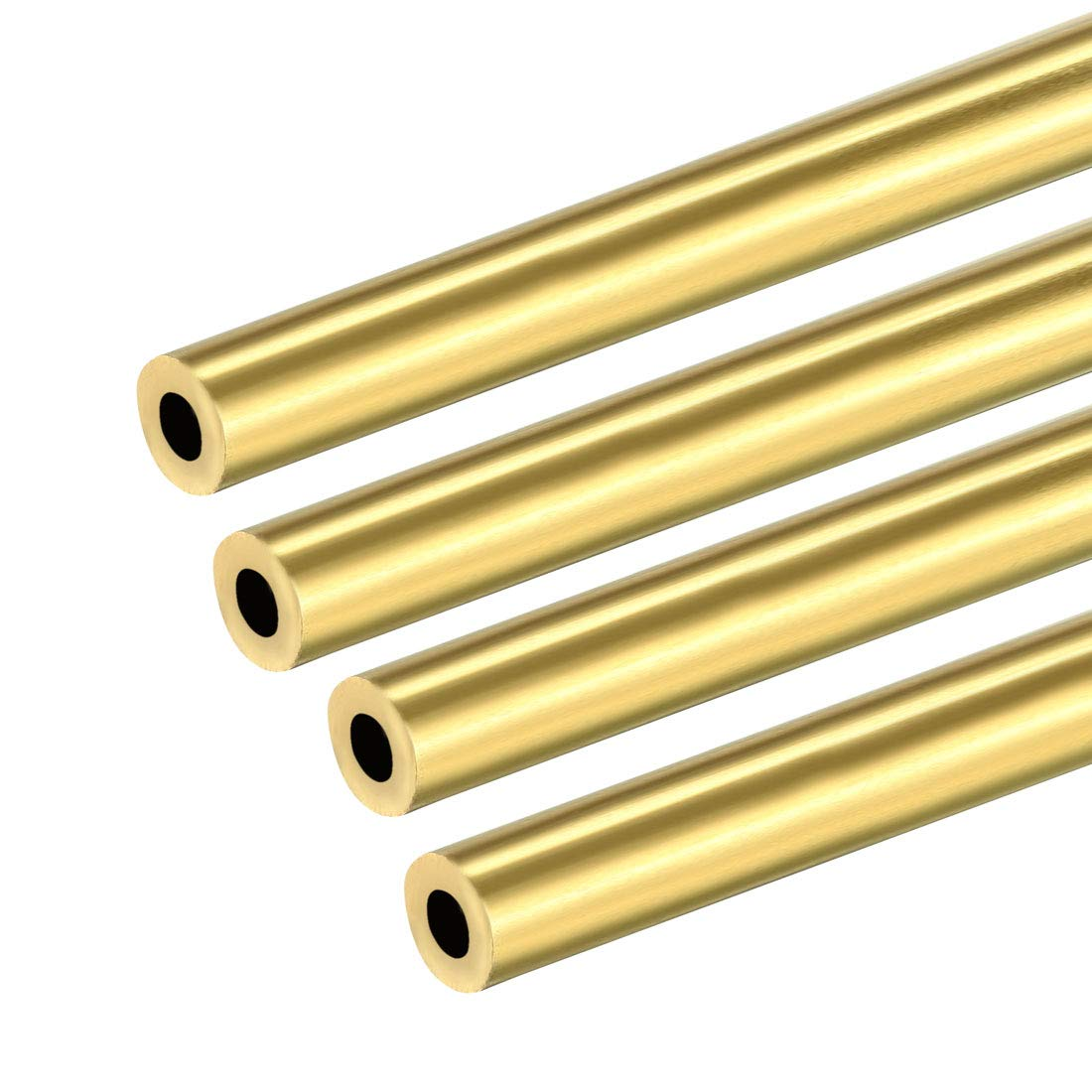 uxcell 4PCS 3mm x 6mm x 500mm Brass Pipe Tube Round Bar Rod for RC Boat