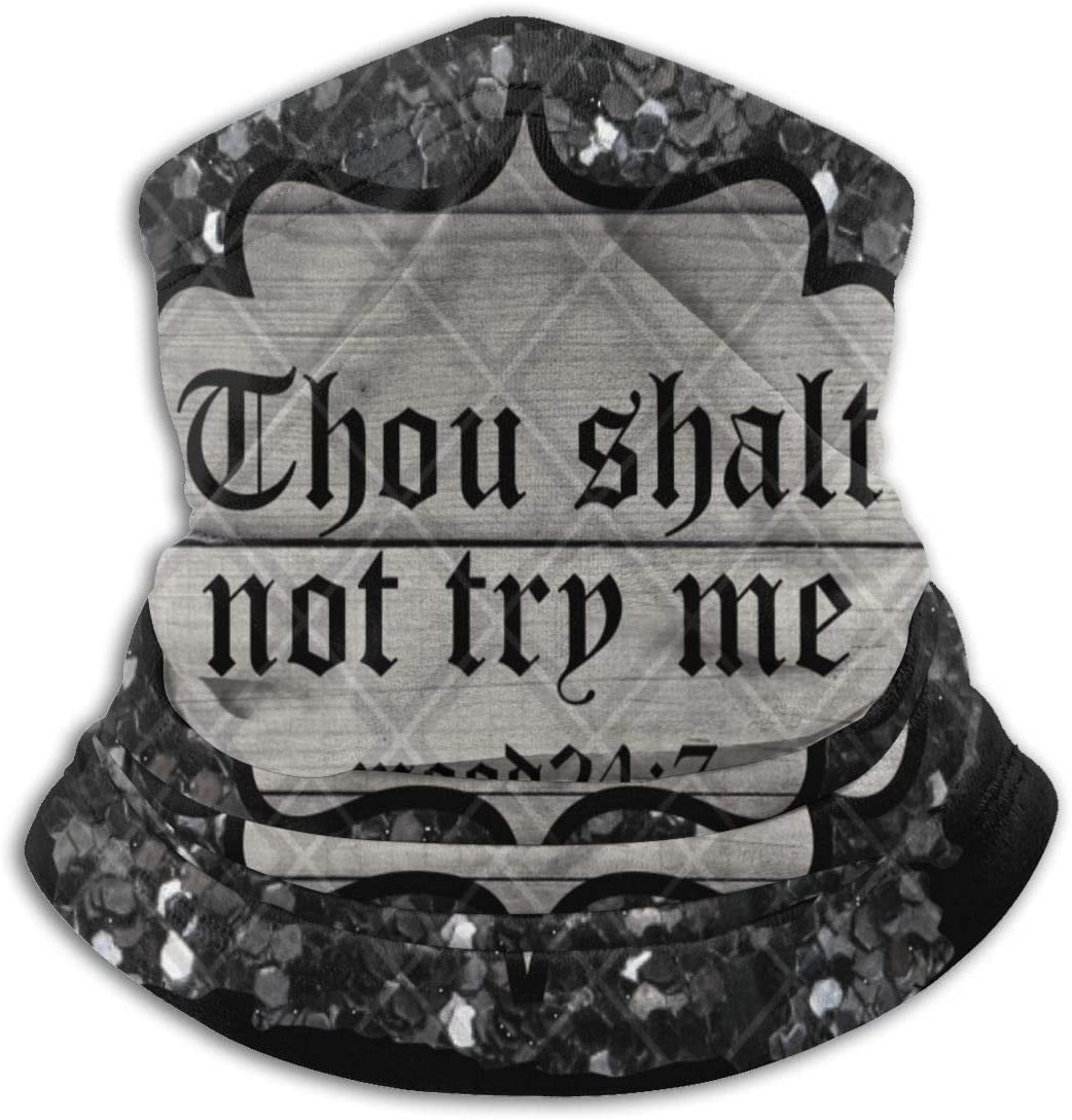 Thou Shall Not Try Memicrofiber Neck Warmer Windproof Bandanas Scarf Face Shields Scarf Multifunctional Design Soft And Moisture Wicking