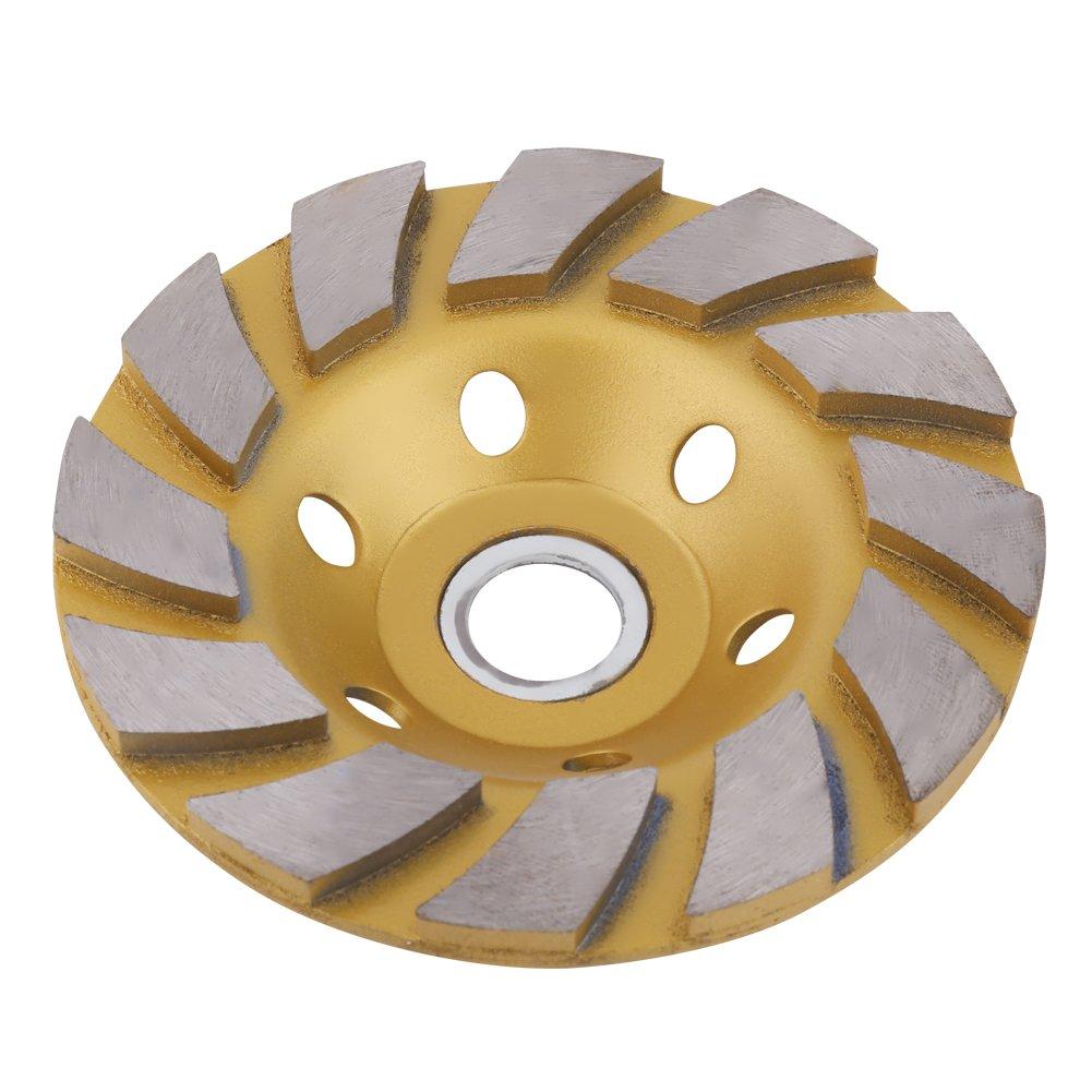 100mm 6 Holes Diamond Segment Grinding Wheel Gold Disc Bowl Shape Grinder Cup for Marble Concrete Stone Ceramics