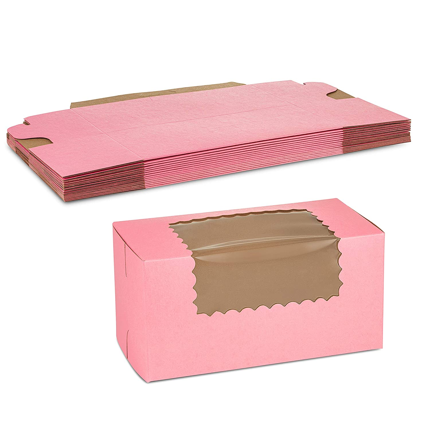 Beautiful Pink Paperboard Pastry Box with Window 8