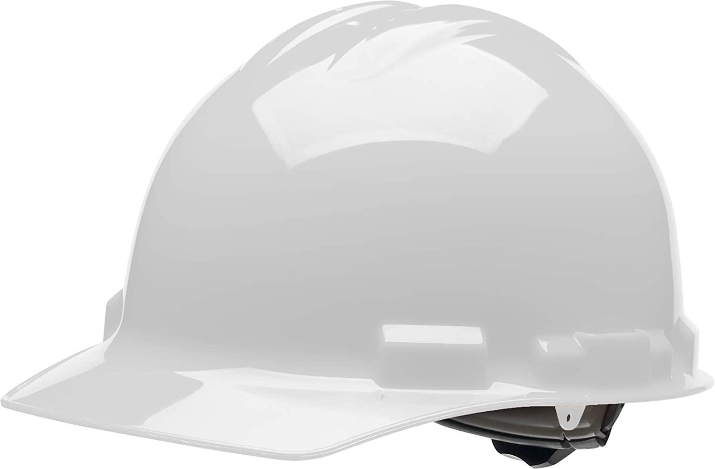 Malta Dynamics 4 pt. Ratchet Cap Style Hard Hat (White), OSHA/ANSI Compliant