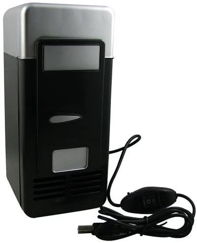 Enpi Set Cooling And Heating Functions As One Mini USB Powered Fridge For Beverage Drink Cans in Cubicle and Home office