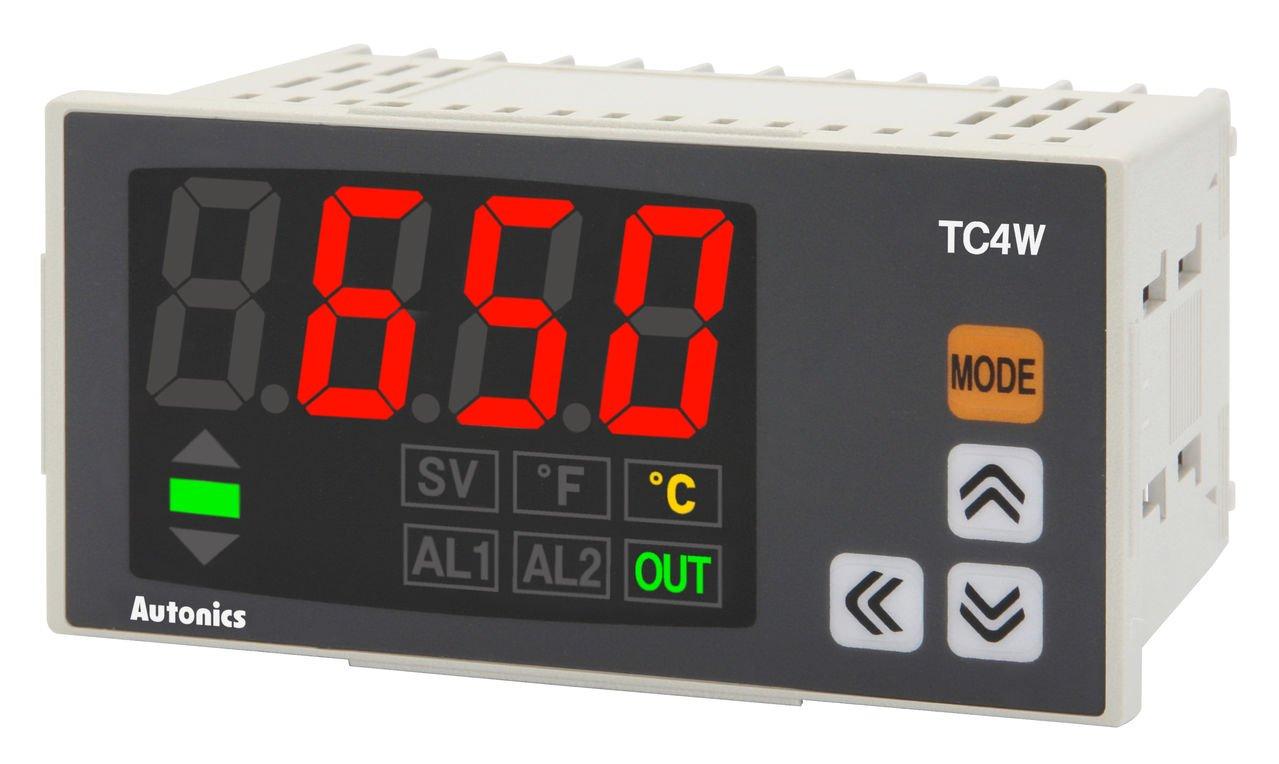 Autonics TC4W-24R Temp Control, DIN W96 X H48mm, Single Display 4 Digit, PID Control, Relay & SSR Output, 2 Alarm Output, 100-240 VAC