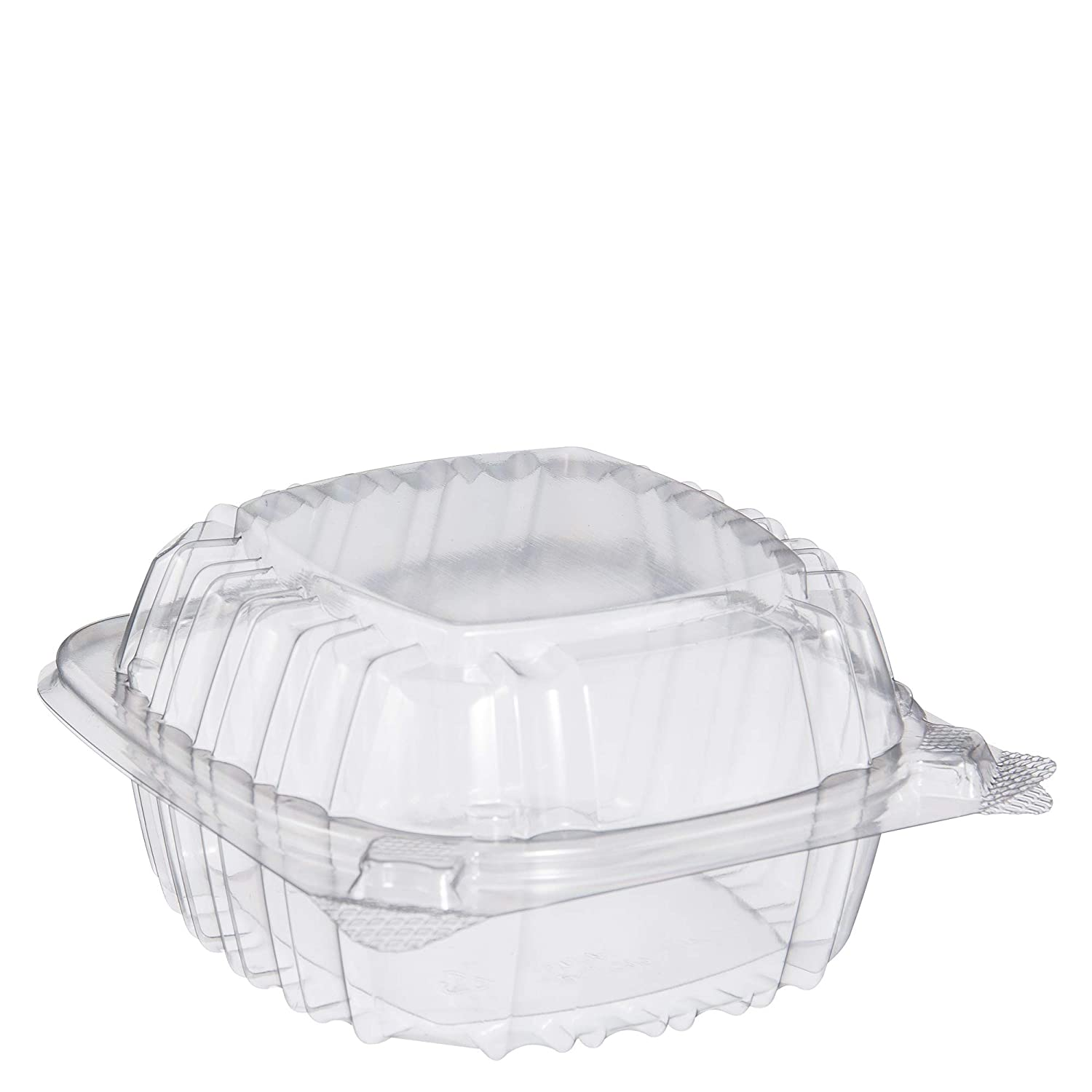 Dart C53PST1 OPS 5 in Clear Hinged Container, 5.3 X 5.4 in (Case of 500)