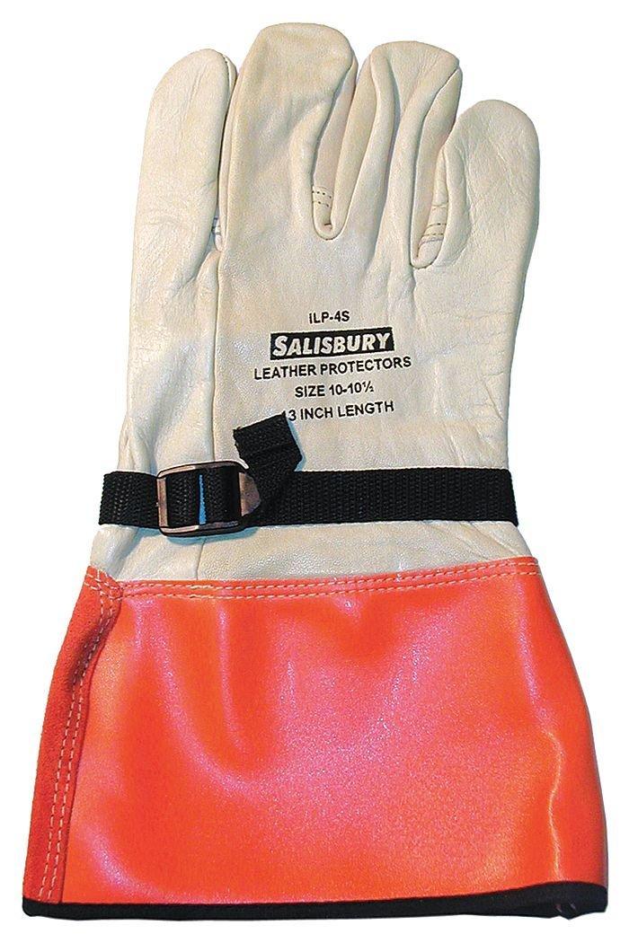 Elec. Glove Protector, 10, White/Orange, PR