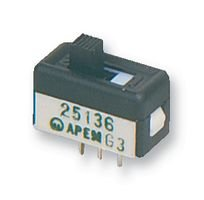 APEM 25136NLDH SLIDE SWITCH, SPDT, GOLD (10 pieces)